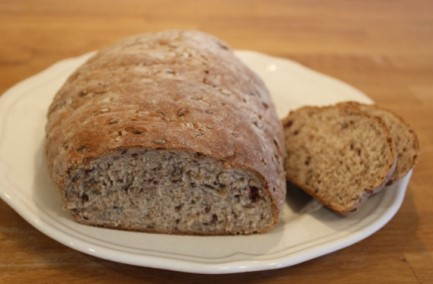 Nordic Baking: Lingonberry Flax Loaf
